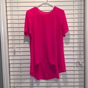 Short sleeve asymmetrical blouse